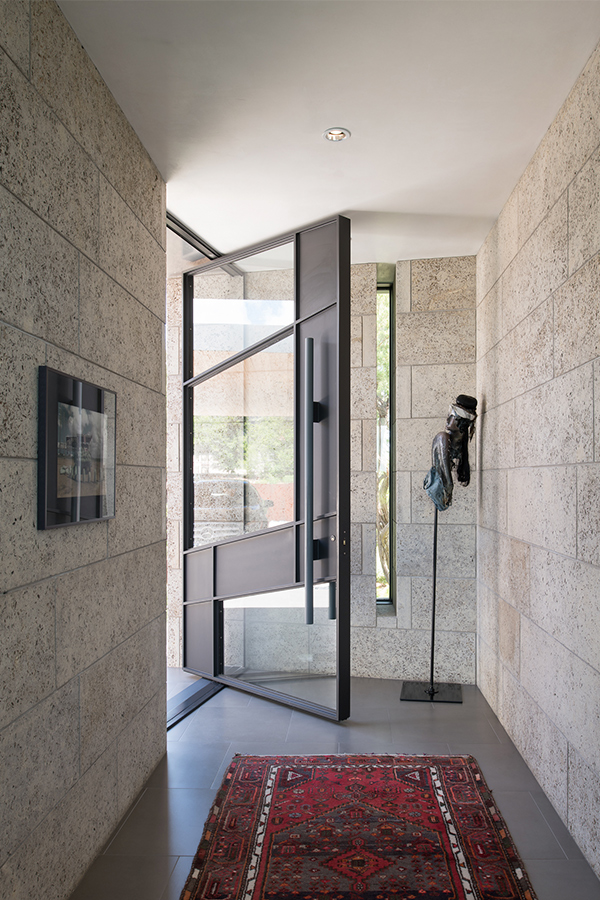 Modern custom front door Dick Clark + Associates